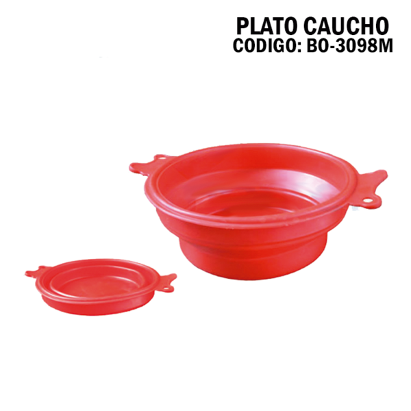 BO 3098 Plato de Caucho Plegable